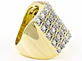 Cubic Zirconia 18k Yellow Gold Over Silver Ring 4.10ctw (2.10ctw DEW)