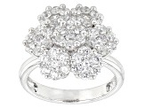 White Cubic Zirconia Sterling Silver Ring 3.57ctw