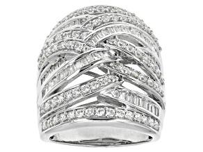 Cubic Zirconia Silver Ring 3.97ctw (2.38ctw DEW)