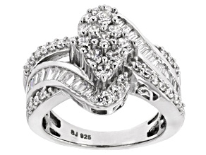 Cubic Zirconia Silver Ring 2.85ctw (1.99ctw DEW)
