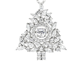 White Cubic Zirconia Rhodium Over Silver Pendant With Chain 4.54ctw