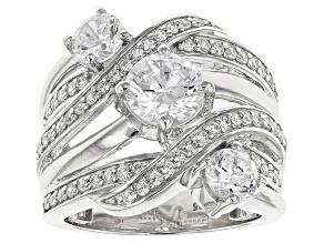 Cubic Zirconia Silver Ring 4.86ctw (2.80ctw DEW)