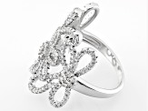 White Cubic Zirconia Rhodium Over Sterling Silver Ring 2.19ctw