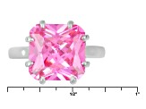 Pink Cubic Zirconia Silver Ring 7.25ctw (5.62ctw DEW)