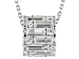 White Cubic Zirconia Rhodium Over Silver Pendant With Chain 3.50ctw