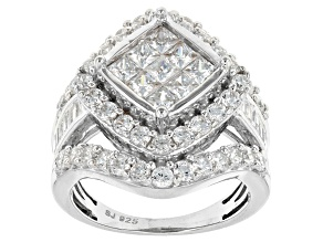 Cubic Zirconia Silver Ring 4.78ctw (2.73ctw DEW)