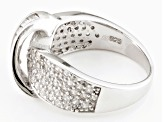 White Cubic Zirconia Rhodium Over Silver Ring 1.72ctw