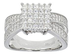 Cubic Ziroconia Silver Ring 2.25ctw (1.22ctw DEW)