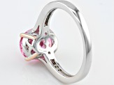 Pink And White Cubic Zirconia Silver Ring 3.18ctw (2.64ctw DEW)
