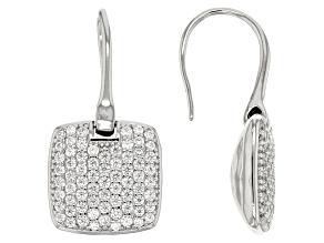 Cubic Zirconia Silver Earrings 2.17ctw (1.18ctw DEW)