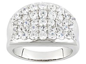 Cubic Zirconia Silver Ring 1.86ctw (1.46ctw DEW)