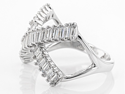 White Cubic Zirconia Rhodium Over Silver Ring 2.99ctw