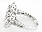 White Cubic Zirconia Rhodium Over Sterling Silver Ring 4.51ctw