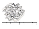 White Cubic Zirconia Rhodium Over Silver Ring 2.38ctw