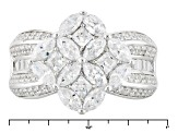 White Cubic Zirconia Rhodium Over Sterling Silver Ring 4.82ctw