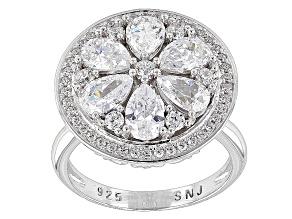 Cubic Zirconia Silver Ring 4.61ctw (3.04ctw DEW)