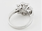 White Cubic Zirconia Rhodium Over Sterling Silver Ring 5.60ctw