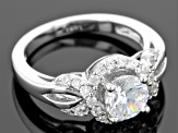 White Cubic Zirconia Rhodium Over Silver Ring 2.34ctw