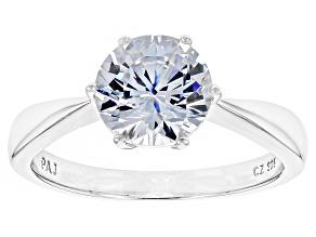 Cubic Zirconia Silver Ring 2.97ct (2.04ct DEW)