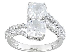 Cubic Zirconia Silver Ring 5.52ctw (3.93ctw DEW)