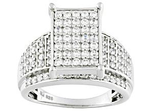 Cubic Zirconia Silver Ring 1.95ctw (.99ctw DEW)