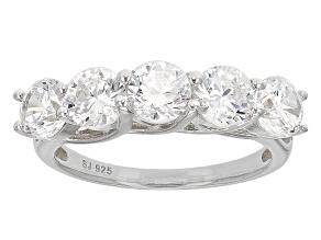 Cubic Zirconia Silver Ring 4.75ctw (2.30ctw DEW)