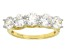 Cubic Zirconia 18k Yellow Gold Over Silver Ring 4.75ctw (2.30ctw DEW)