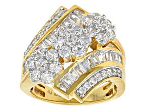 Cubic Zirconia 18k Yellow Gold Over Silver 4.60ctw (2.29ctw DEW)
