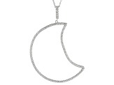White Cubic Zirconia Rhodium Over Sterling Silver Pendant With Chain 1.14ctw