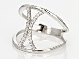 White Cubic Zirconia Rhodium Over Silver Ring .26ctw