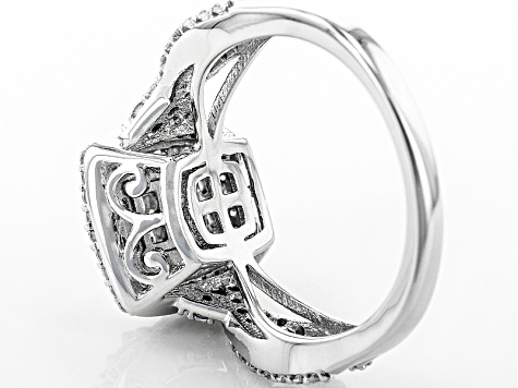 White Cubic Zirconia Rhodium Over Silver Ring 1.22ctw