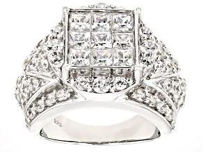 Cubic Zirconia Silver Ring 5.97ctw (3.30ctw DEW)