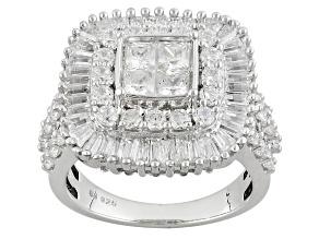Cubic Zirconia Silver Ring 5.01ctw (3.14ctw DEW)