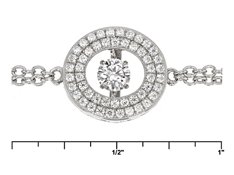 White Cubic Zirconia Rhodium Over Sterling Silver Bracelet .94ctw