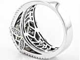 White Cubic Zirconia Rhodium Over Sterling Silver Ring 2.00ctw