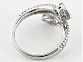 White Cubic Zirconia Rhodium Over Sterling Silver Ring 2.96ctw