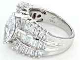 White Cubic Zirconia Rhodium Over Sterling Silver Ring 6.33ctw