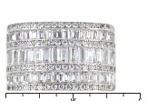 White Cubic Zirconia Rhodium Over Sterling Silver Ring 3.54ctw