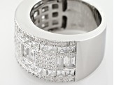White Cubic Zirconia Rhodium Over Sterling Silver Ring 5.25ctw