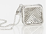 White Cubic Zirconia Rhodium Over Sterling Silver Pendant With Chain .91ctw