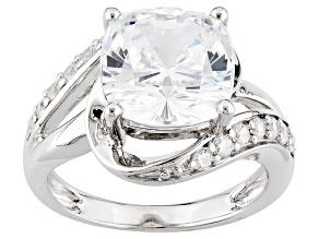 Cubic Zirconia Silver Ring 8.32ctw (4.28ctw DEW)
