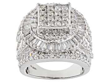 Picture of Cubic Zirconia Silver Ring 8.30ctw (5.57ctw DEW)