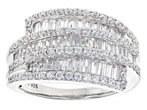 Cubic Zirconia Silver Ring 3.25ctw (2.18ctw DEW)