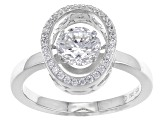 White Cubic Zirconia Rhodium Over Sterling Silver Ring 2.07ctw