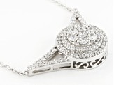 Cubic Zirconia Silver Necklace 3.40ctw (1.86ctw DEW)