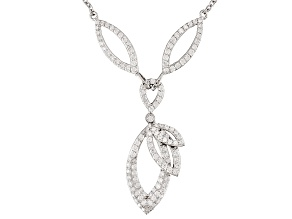 White Cubic Zirconia Rhodium Over Sterling Silver Necklace 1.31ctw