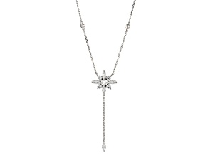 White Cubic Zirconia Rhodium Over Sterling Silver Adjustable Necklace 2.31ctw
