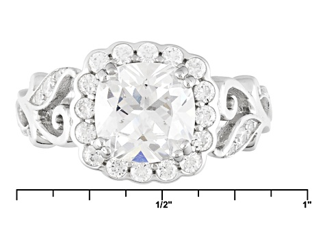 White Cubic Zirconia Rhodium Over Sterling Silver Ring 1.77ctw