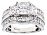 White Cubic Zirconia Rhodium Over Sterling Silver Ring 4.70ctw (2.89ctw DEW)