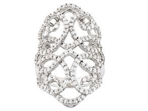 Cubic Zirconia Silver Ring 2.27ctw (1.01ctw DEW)